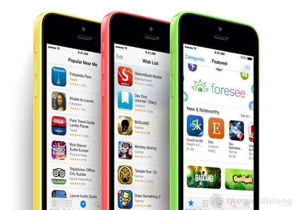 iPhone 5C với bộ vỏ nhựa