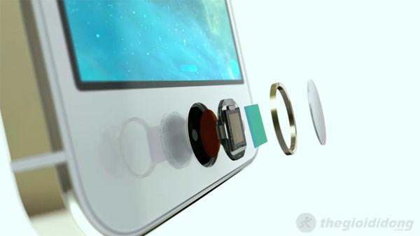 Phím Home của Iphone 5S được thiết kế khá tinh xảo và đặc biệt